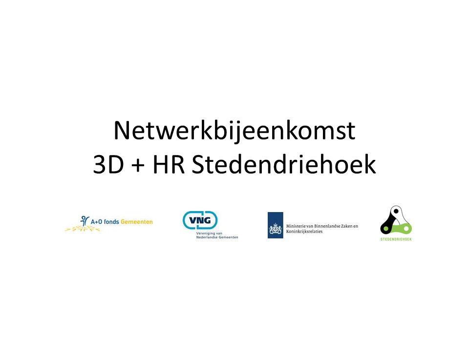 Netwerkbijeenkomst 3D + HR Stedendriehoek