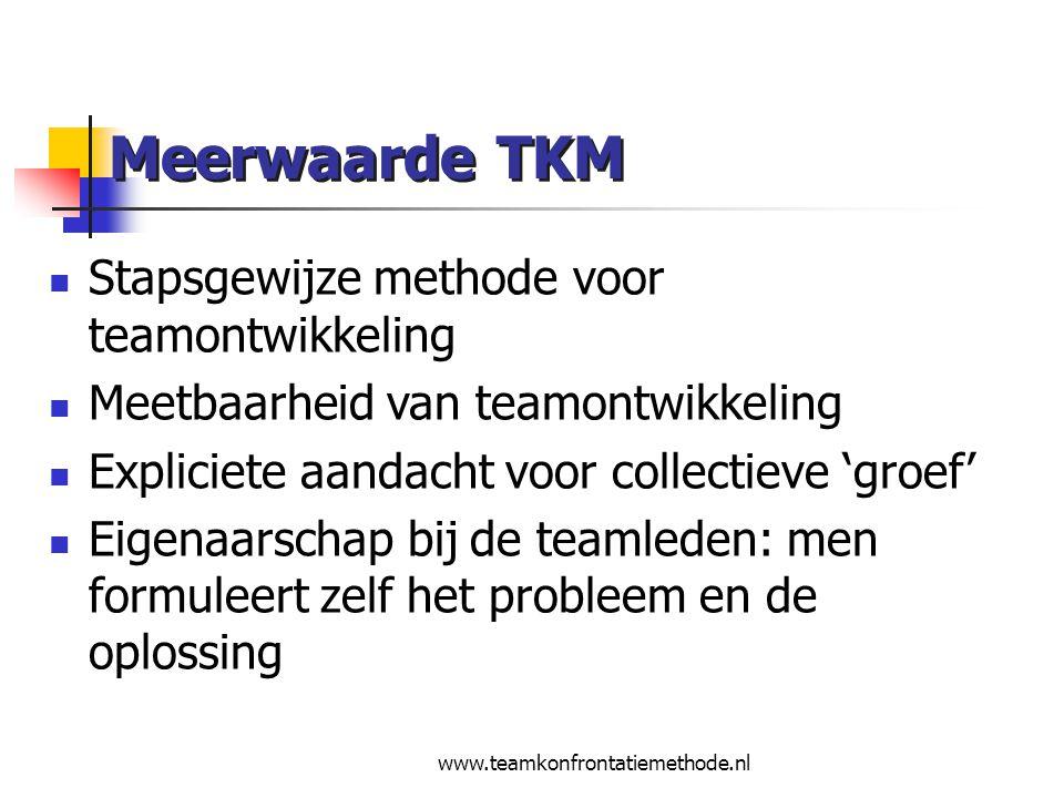 Meerwaarde TKM Stapsgewijze methode voor teamontwikkeling