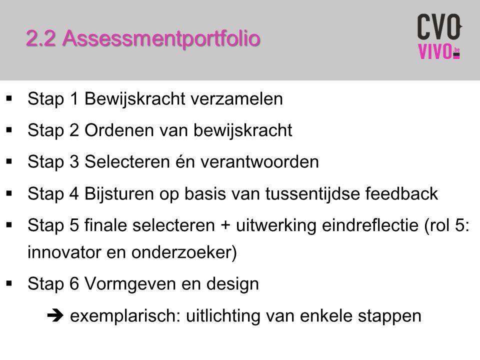 2.2 Assessmentportfolio Stap 1 Bewijskracht verzamelen