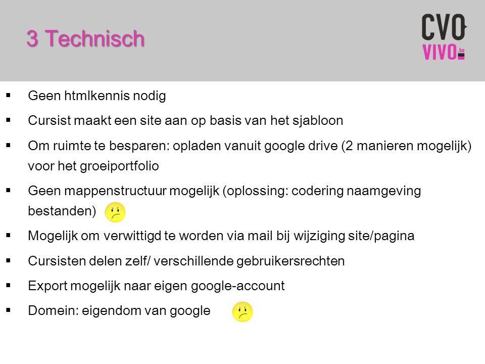 3 Technisch Geen htmlkennis nodig