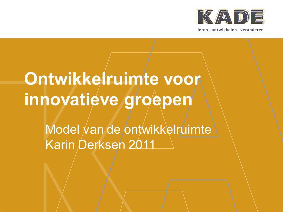 Ontwikkelruimte voor innovatieve groepen