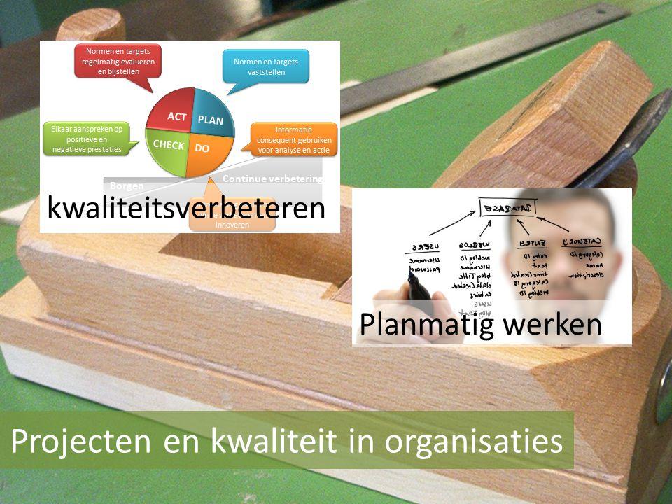 Projecten en kwaliteit in organisaties