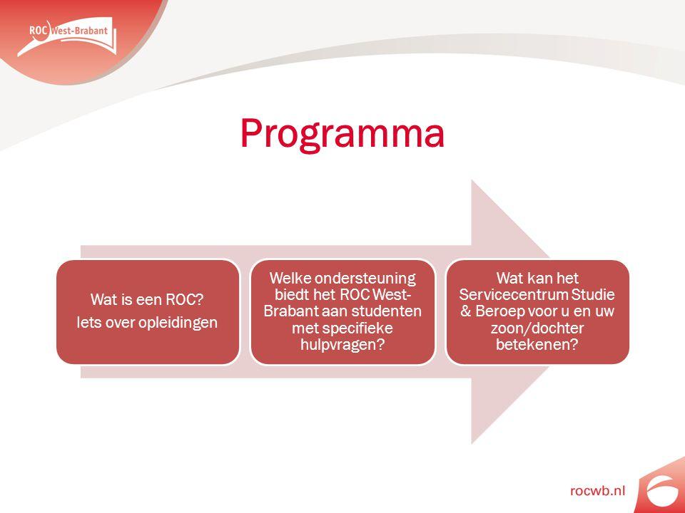 Programma Wat is een ROC Iets over opleidingen