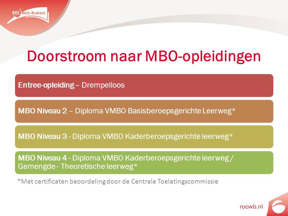 Doorstroom naar MBO-opleidingen
