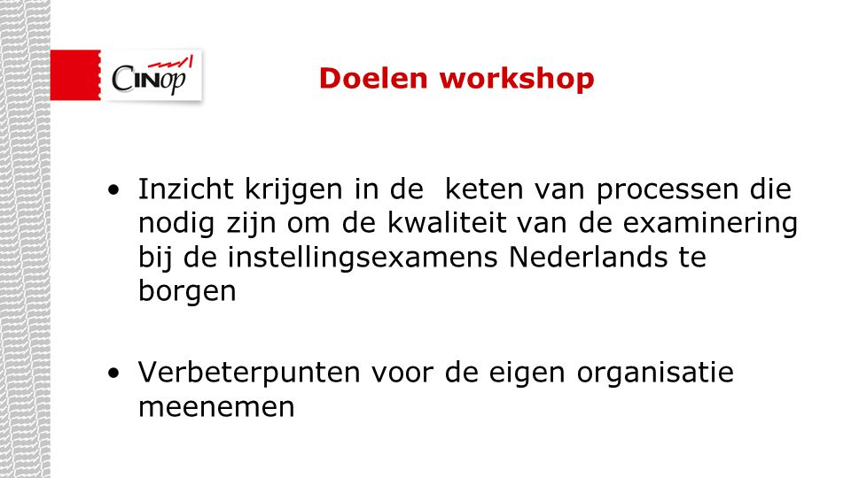 Doelen workshop