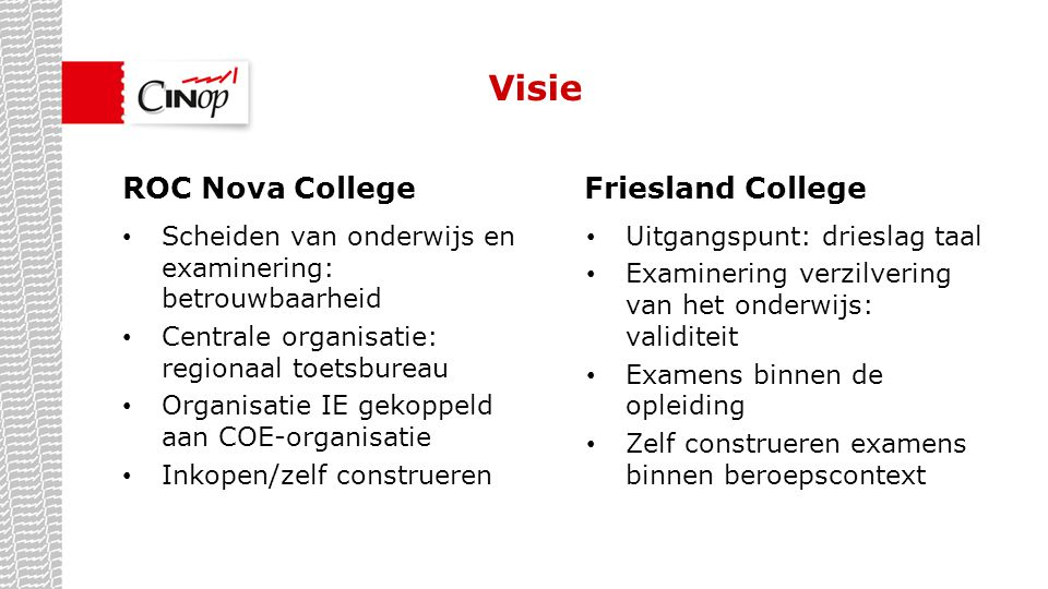 Visie ROC Nova College Friesland College