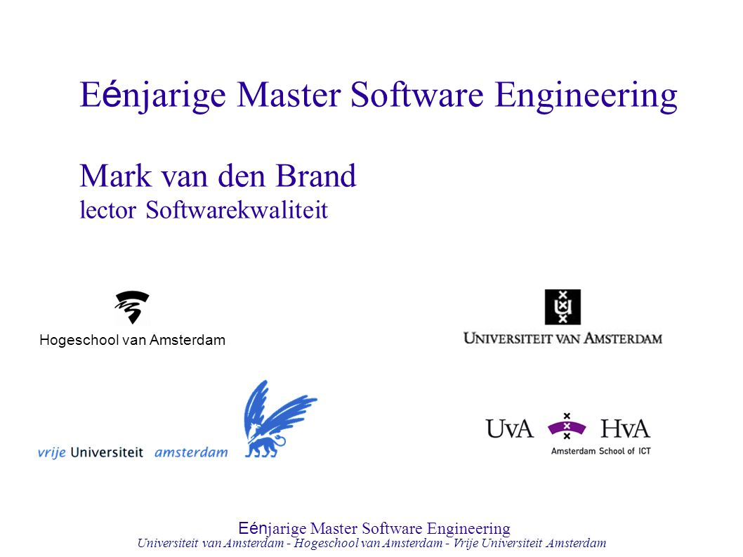 Eénjarige Master Software Engineering