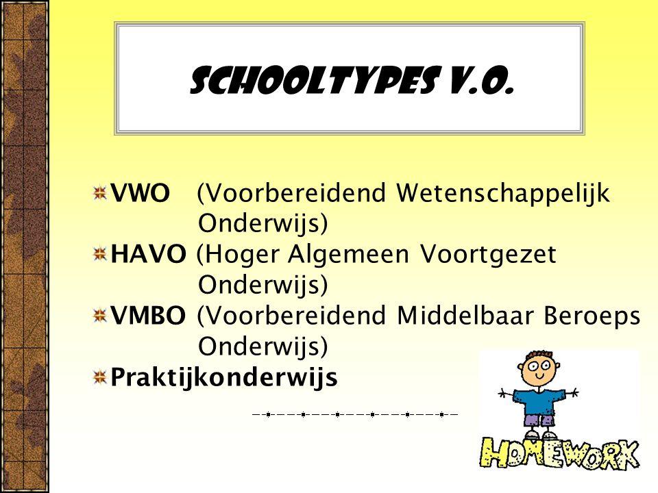 Schooltypes V.O. VWO (Voorbereidend Wetenschappelijk Onderwijs)