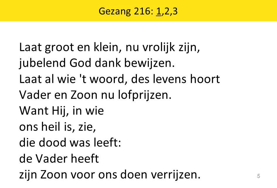 Gezang 216: 1,2,3