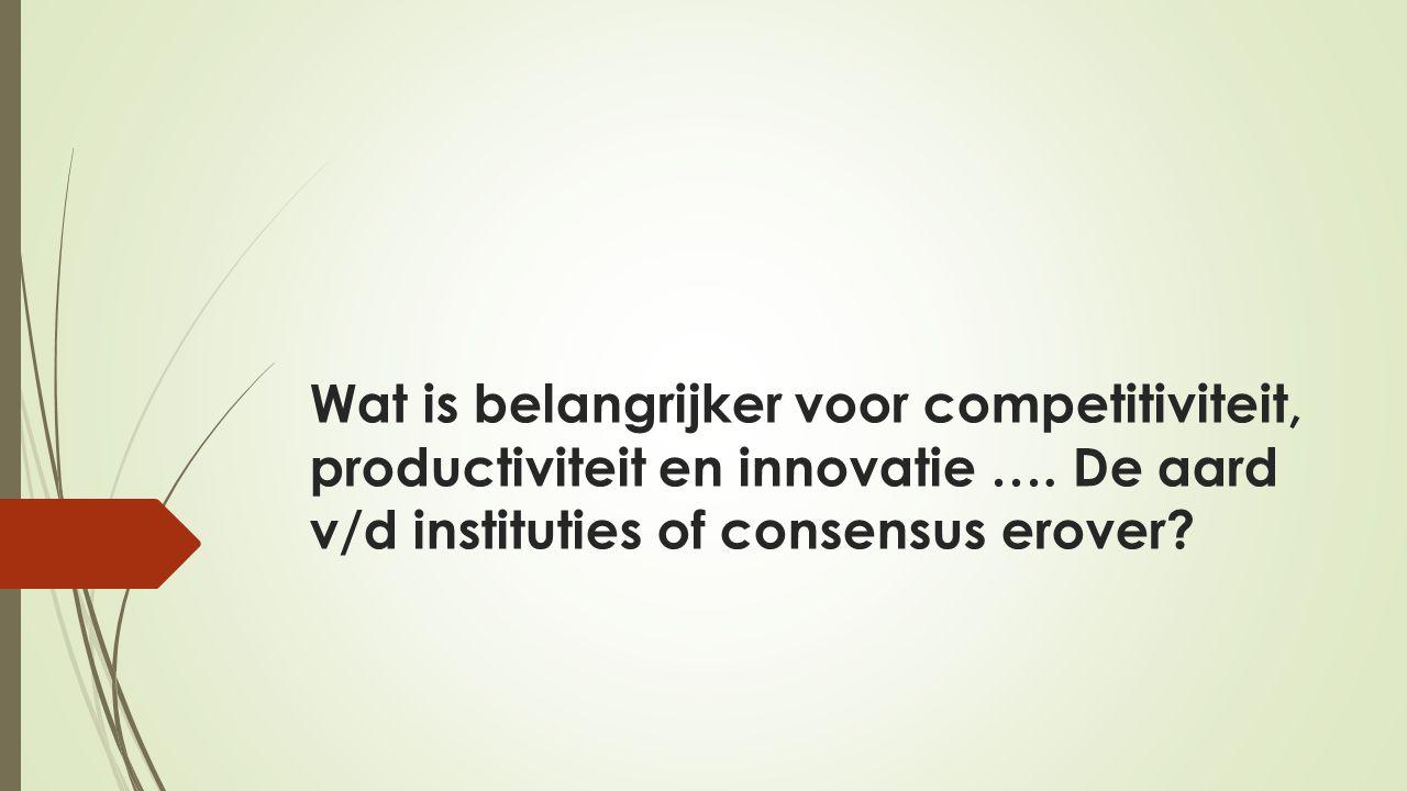 Wat is belangrijker voor competitiviteit, productiviteit en innovatie ….