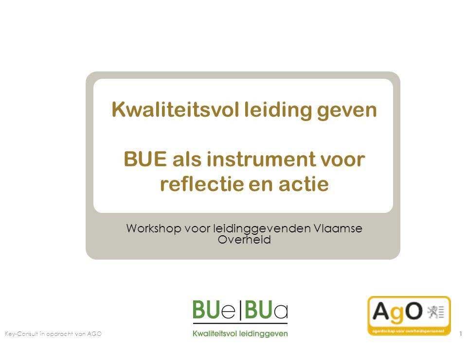 Kwaliteitsvol leiding geven BUE als instrument voor reflectie en actie