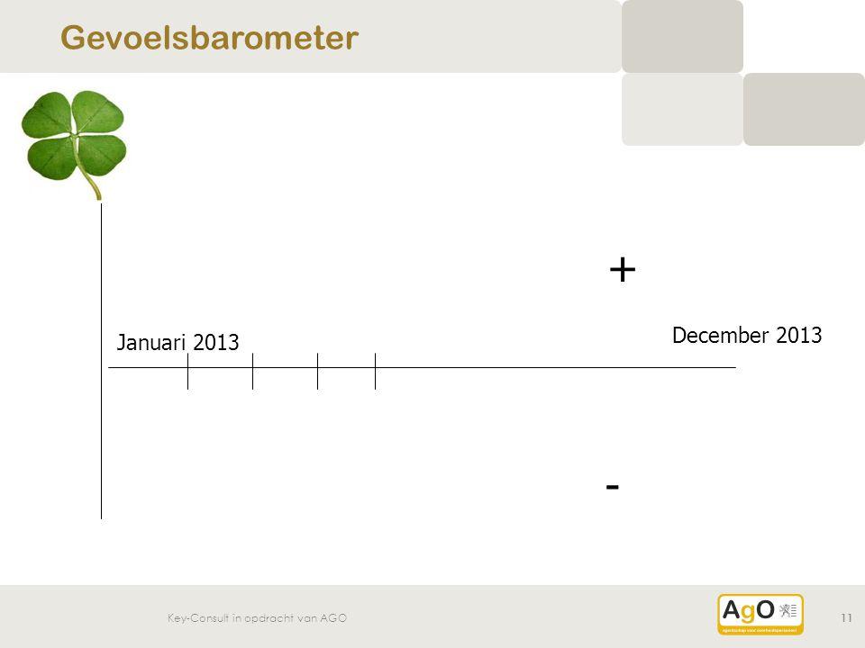 + - Gevoelsbarometer December 2013 Januari 2013 Mogelijkheid 1: