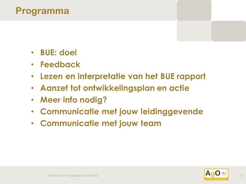 Programma BUE: doel Feedback