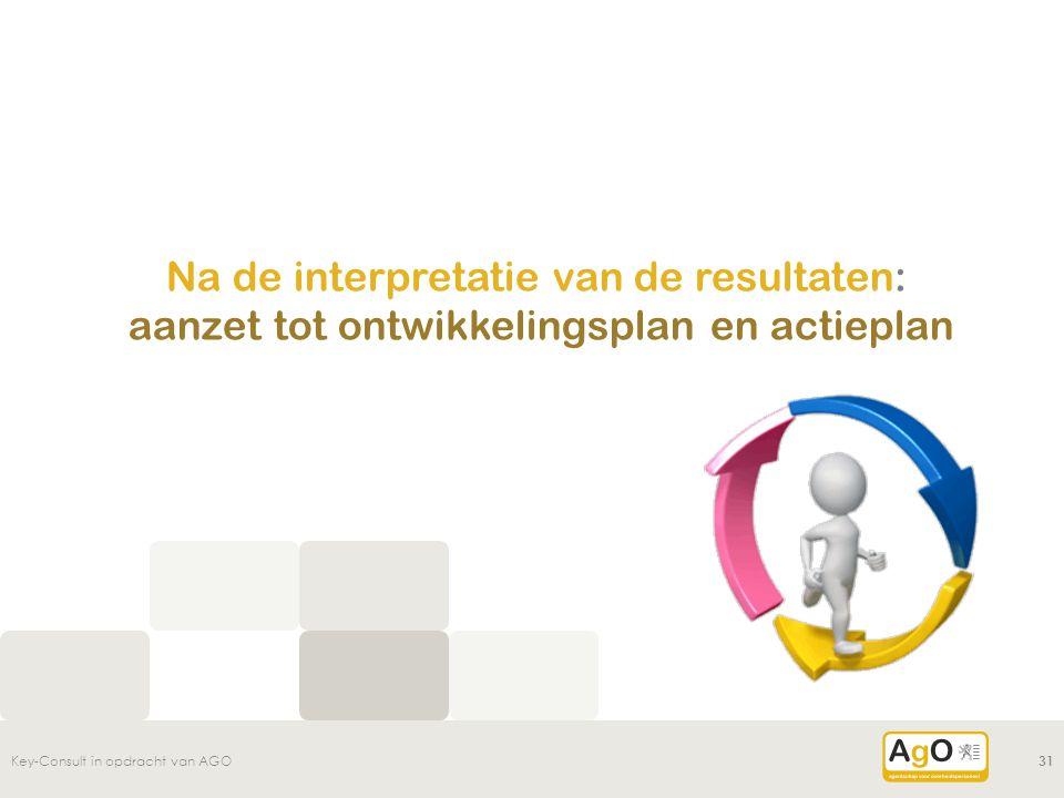 Na de interpretatie van de resultaten: aanzet tot ontwikkelingsplan en actieplan