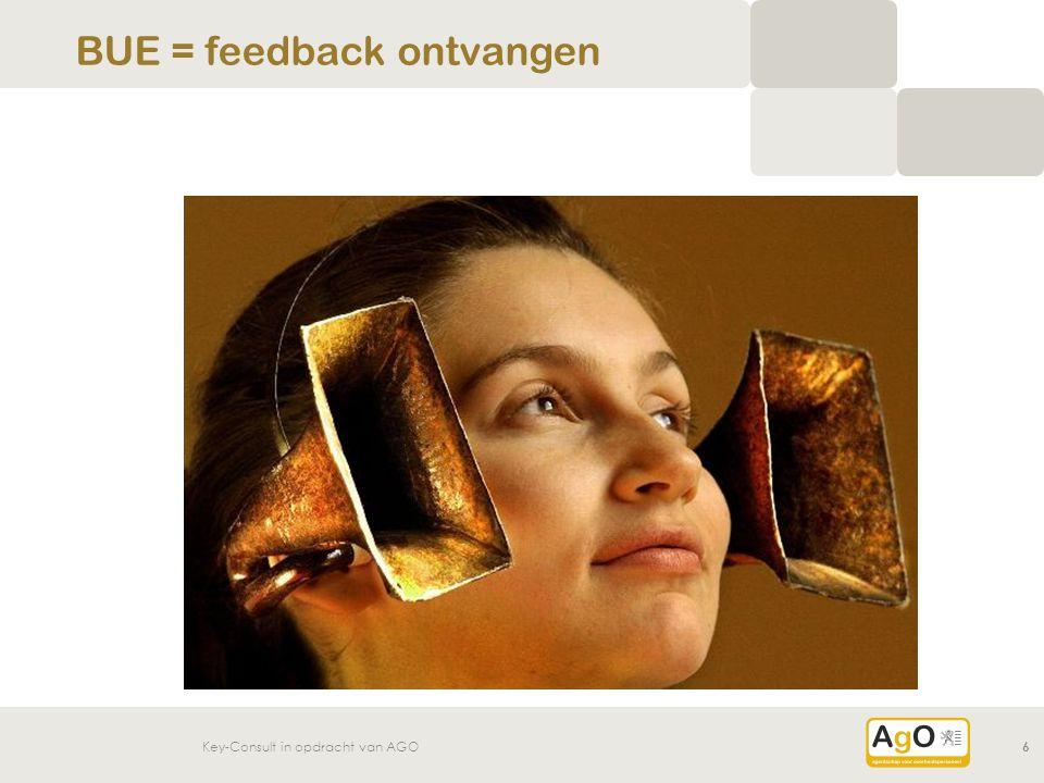 BUE = feedback ontvangen