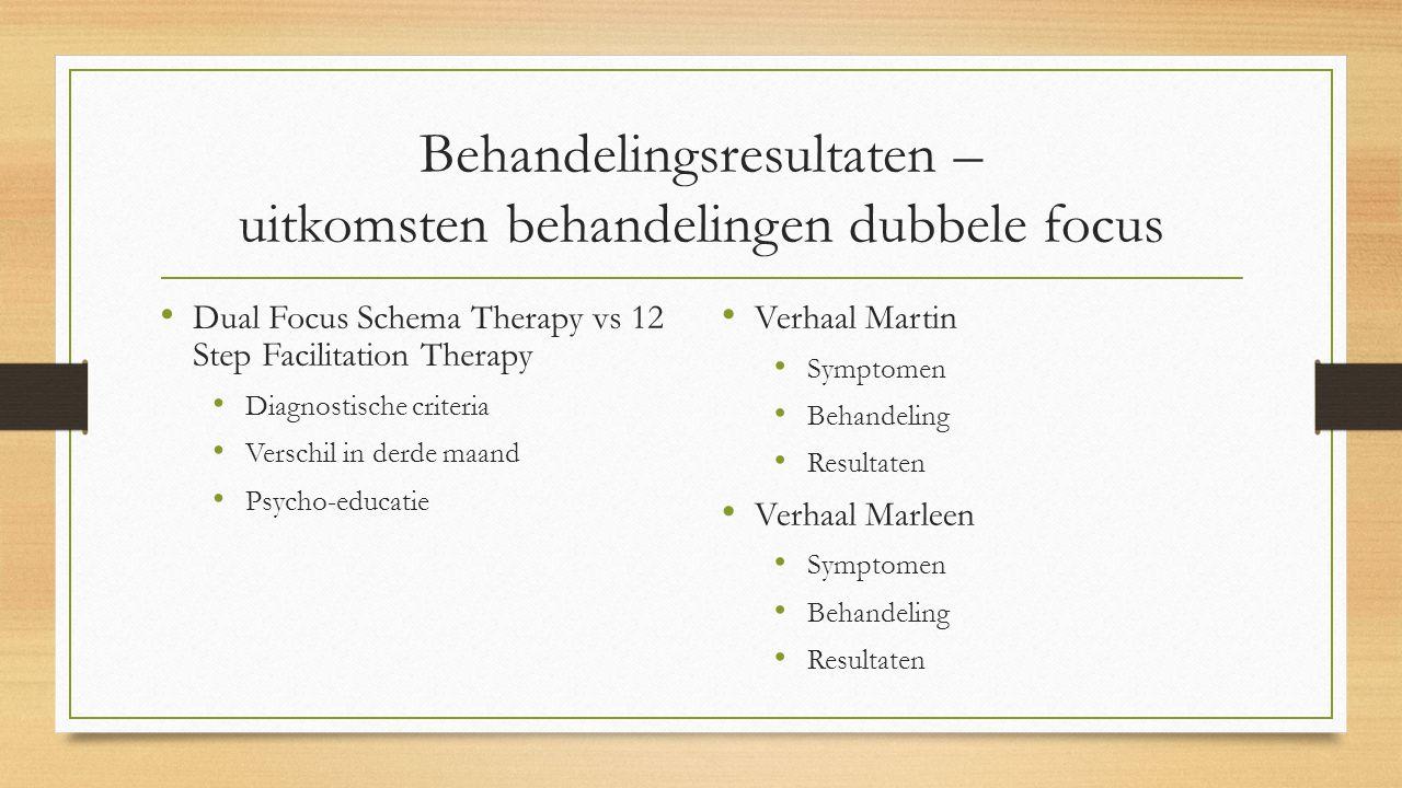 Behandelingsresultaten – uitkomsten behandelingen dubbele focus