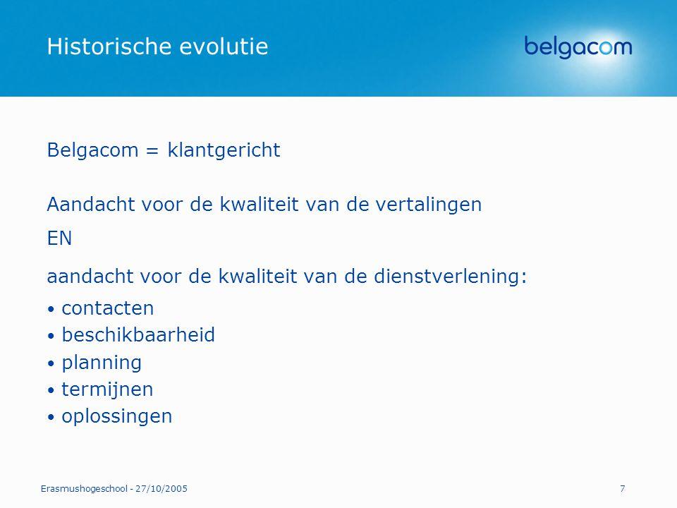 Historische evolutie Belgacom = klantgericht
