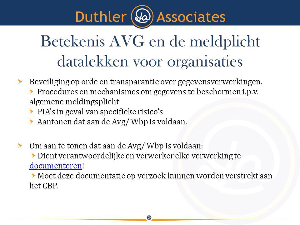 Betekenis AVG en de meldplicht datalekken voor organisaties