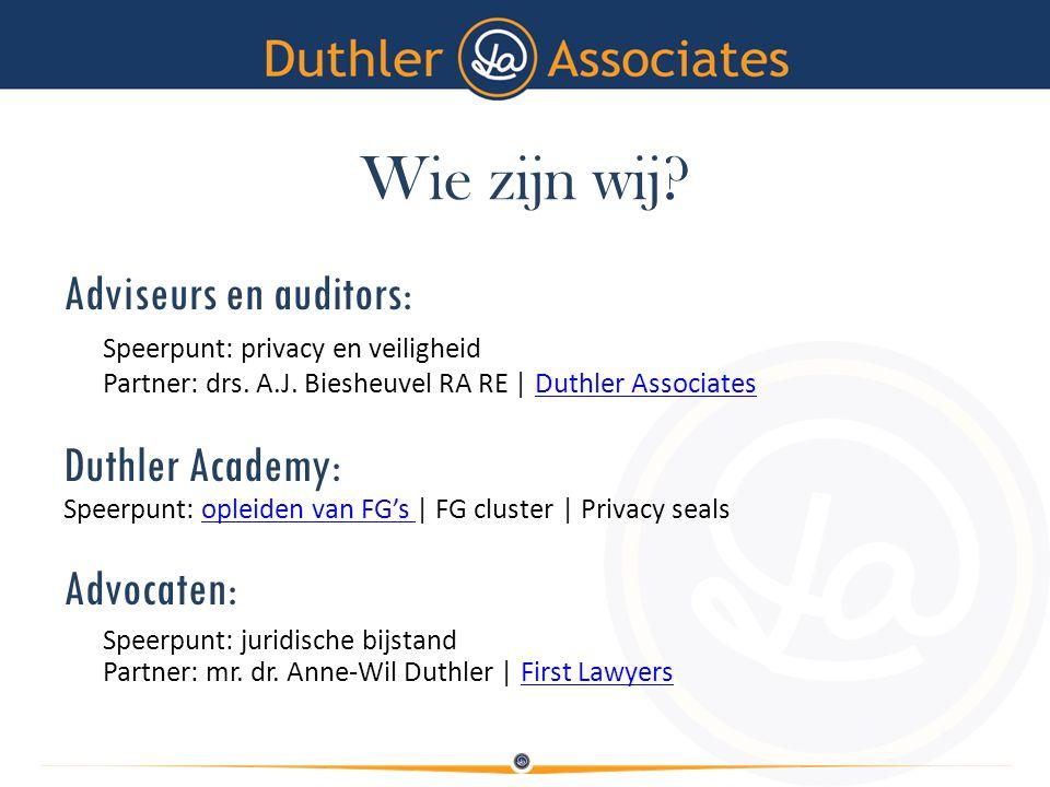 Wie zijn wij Adviseurs en auditors: