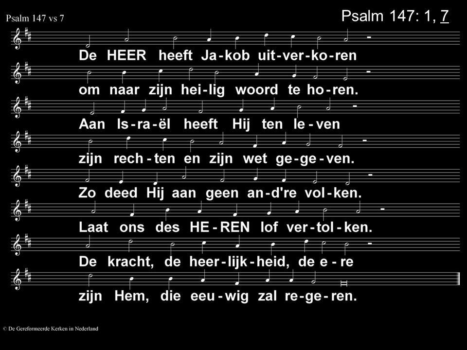 Psalm 147: 1, 7
