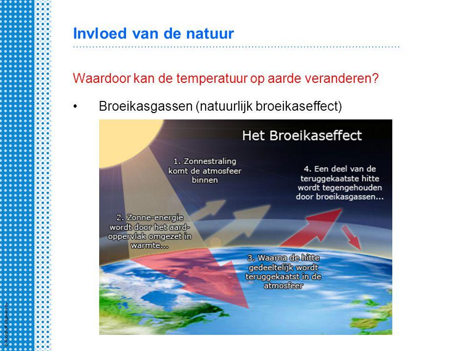 Invloed van de natuur Waardoor kan de temperatuur op aarde veranderen