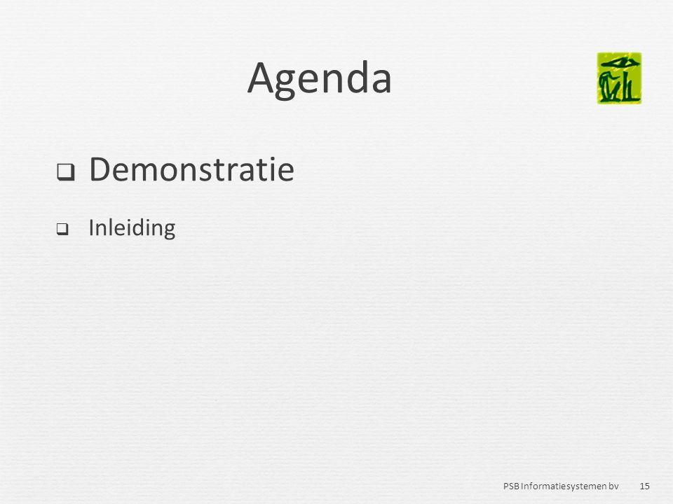 Agenda Demonstratie Inleiding 15