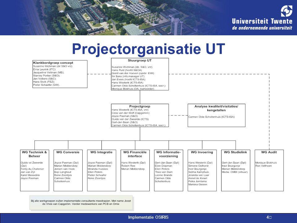 Projectorganisatie UT