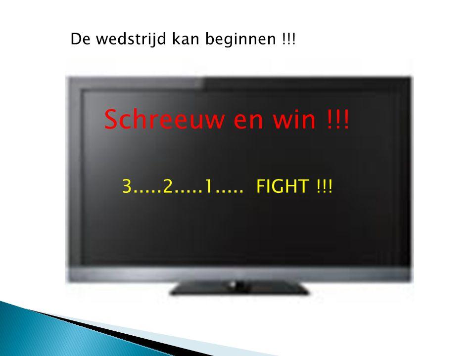 De wedstrijd kan beginnen !!!