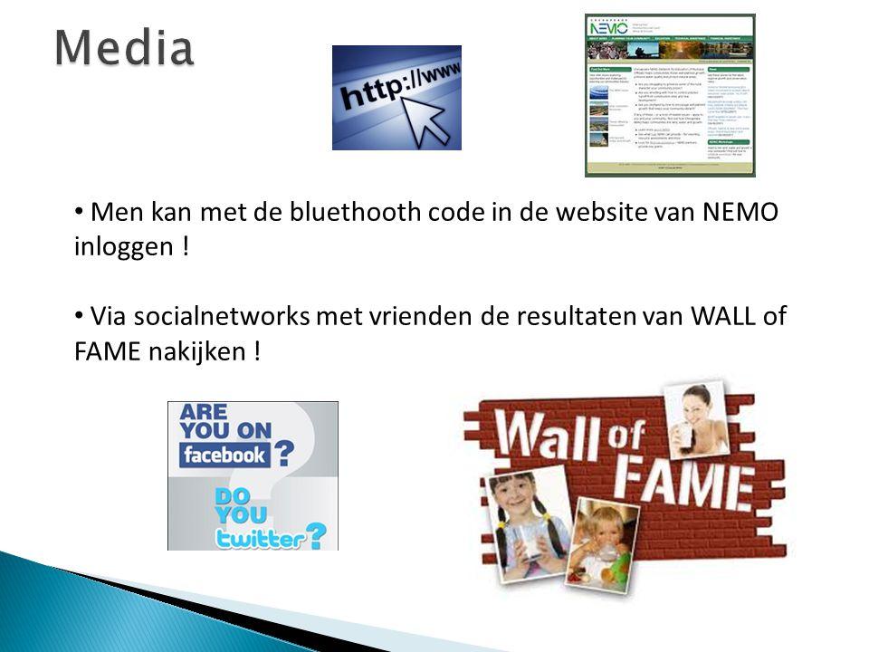 Media Men kan met de bluethooth code in de website van NEMO inloggen !