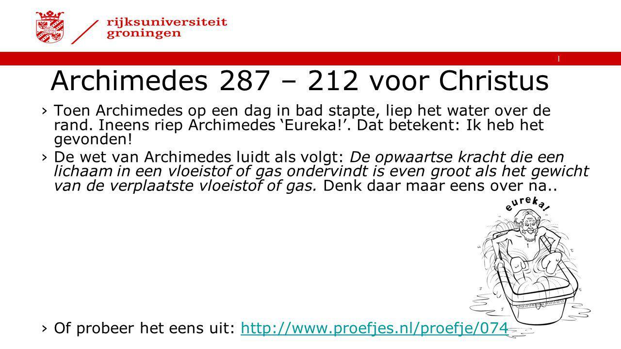 Archimedes 287 – 212 voor Christus