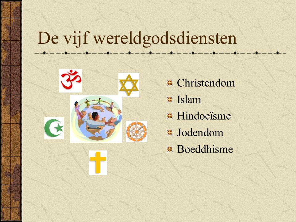 De vijf wereldgodsdiensten