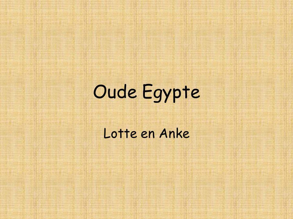 Oude Egypte Lotte en Anke