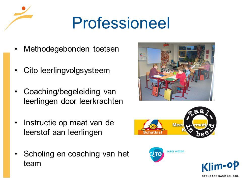 Professioneel Methodegebonden toetsen Cito leerlingvolgsysteem