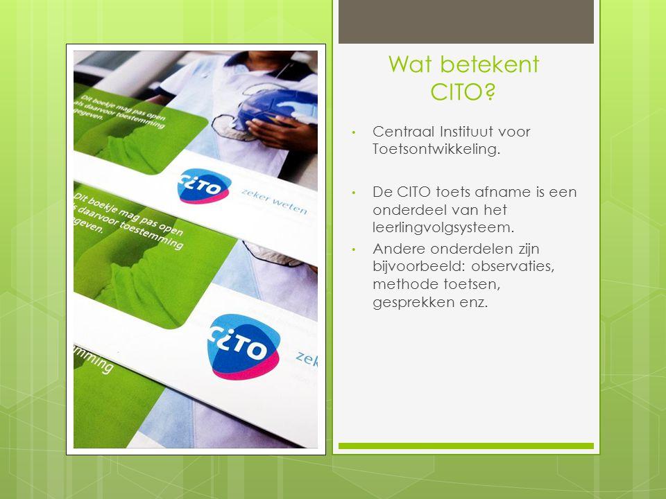 Wat betekent CITO Centraal Instituut voor Toetsontwikkeling.