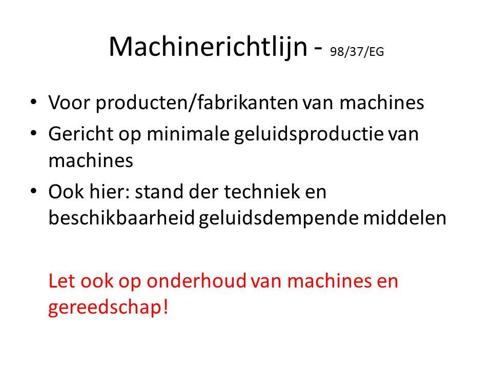 Machinerichtlijn - 98/37/EG