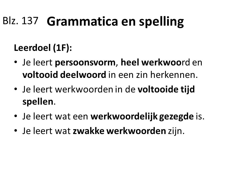 Grammatica en spelling