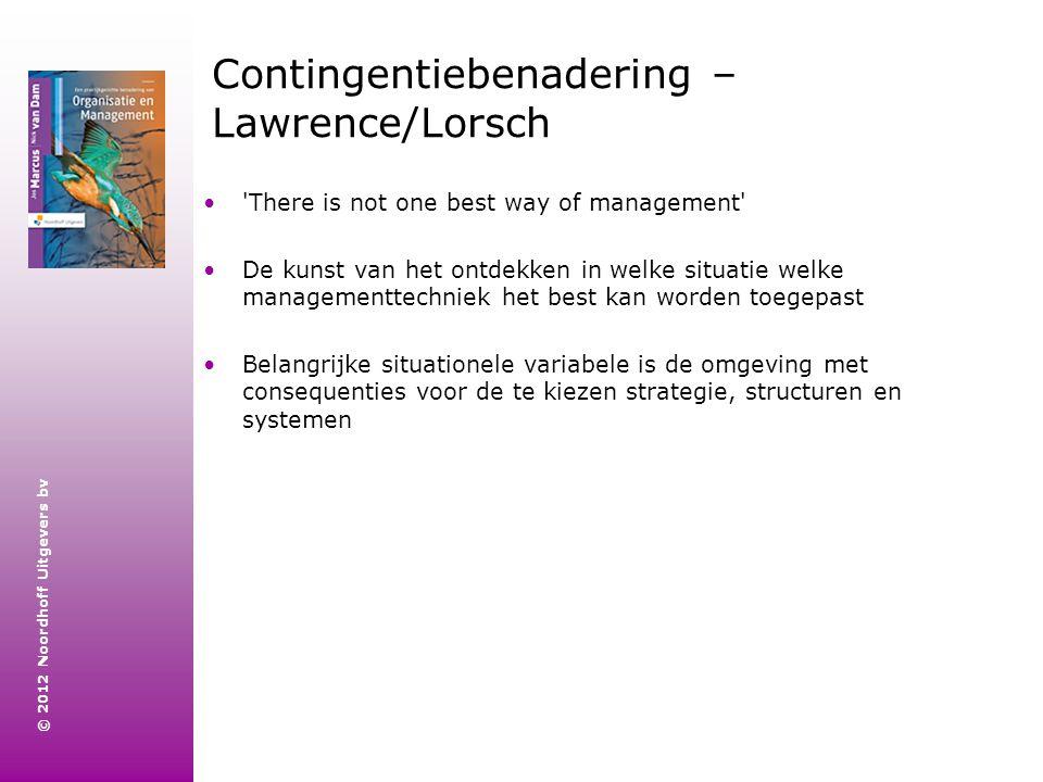 Contingentiebenadering – Lawrence/Lorsch
