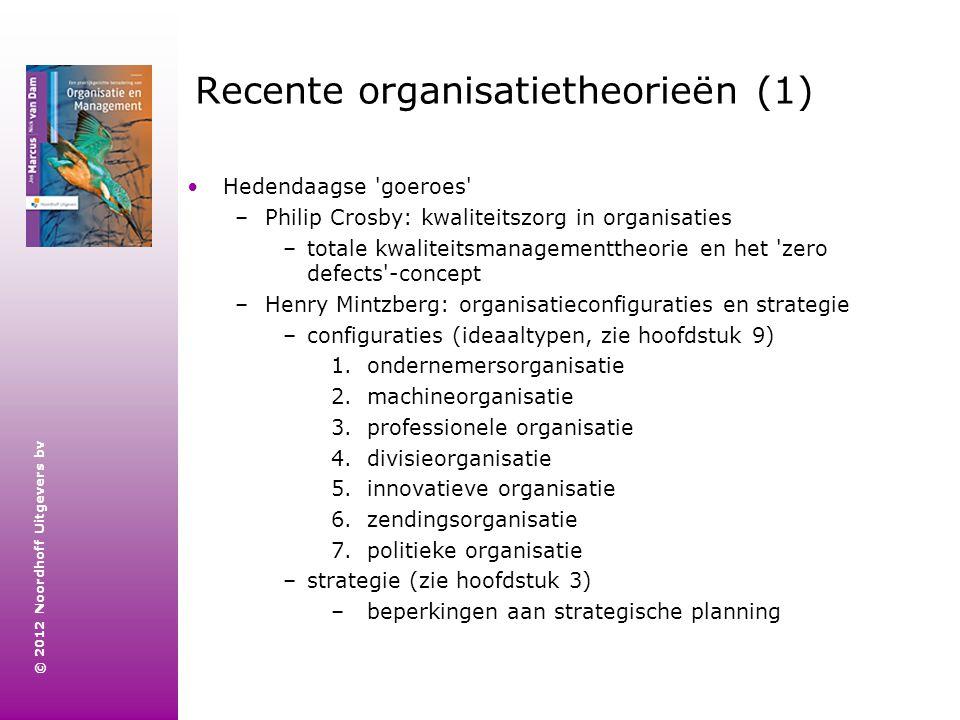 Recente organisatietheorieën (1)