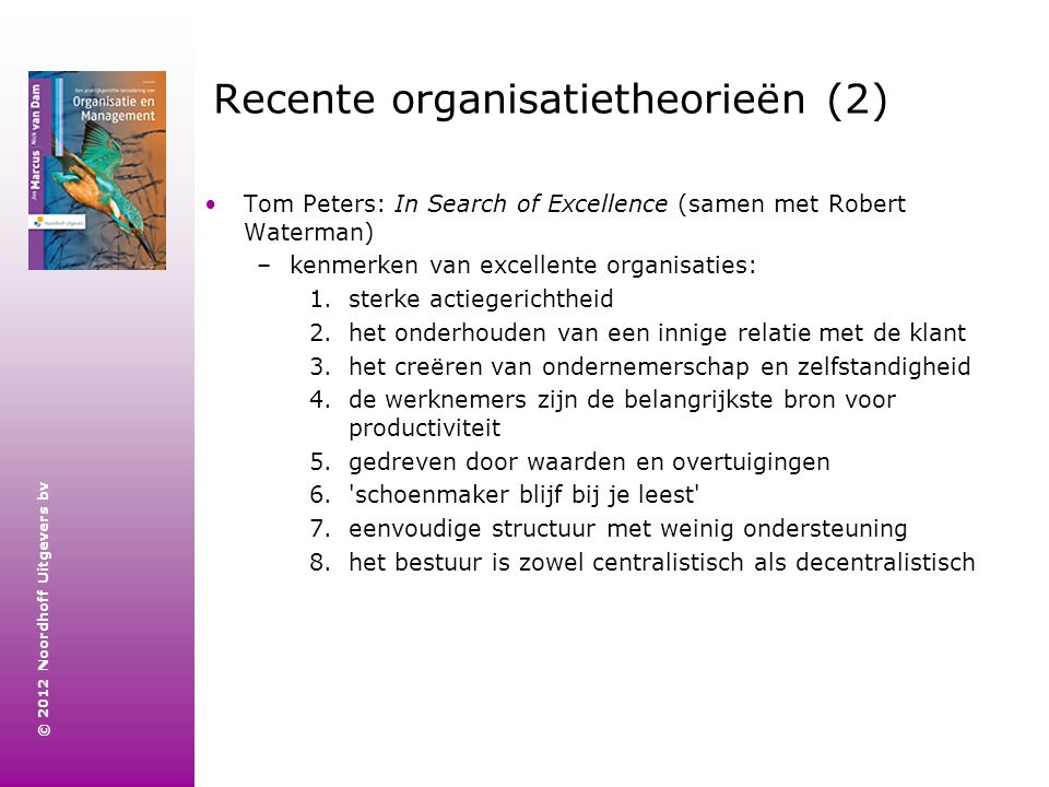 Recente organisatietheorieën (2)