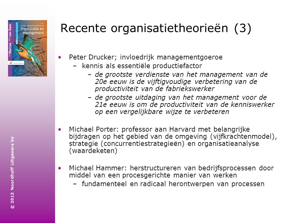 Recente organisatietheorieën (3)