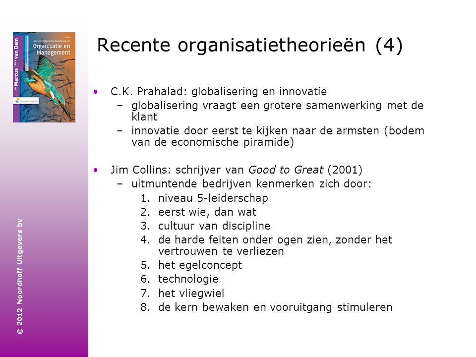 Recente organisatietheorieën (4)