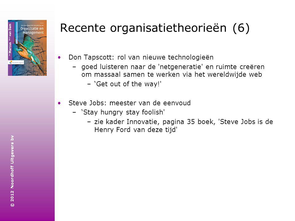 Recente organisatietheorieën (6)