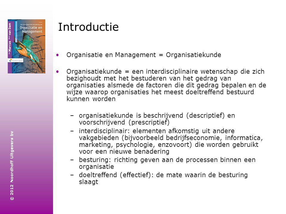 Introductie Organisatie en Management = Organisatiekunde