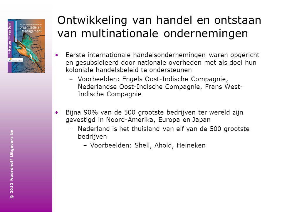 Ontwikkeling van handel en ontstaan van multinationale ondernemingen