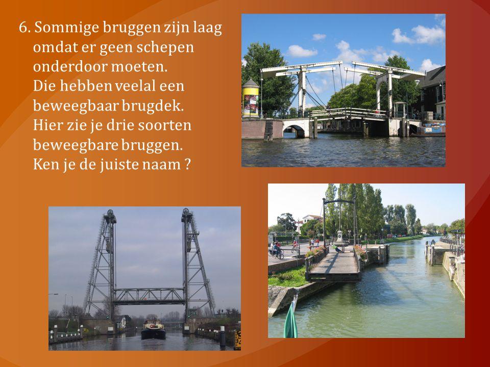 6. Sommige bruggen zijn laag