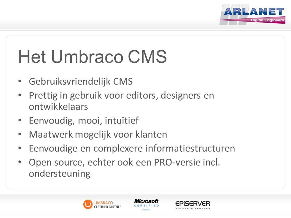 Het Umbraco CMS Gebruiksvriendelijk CMS