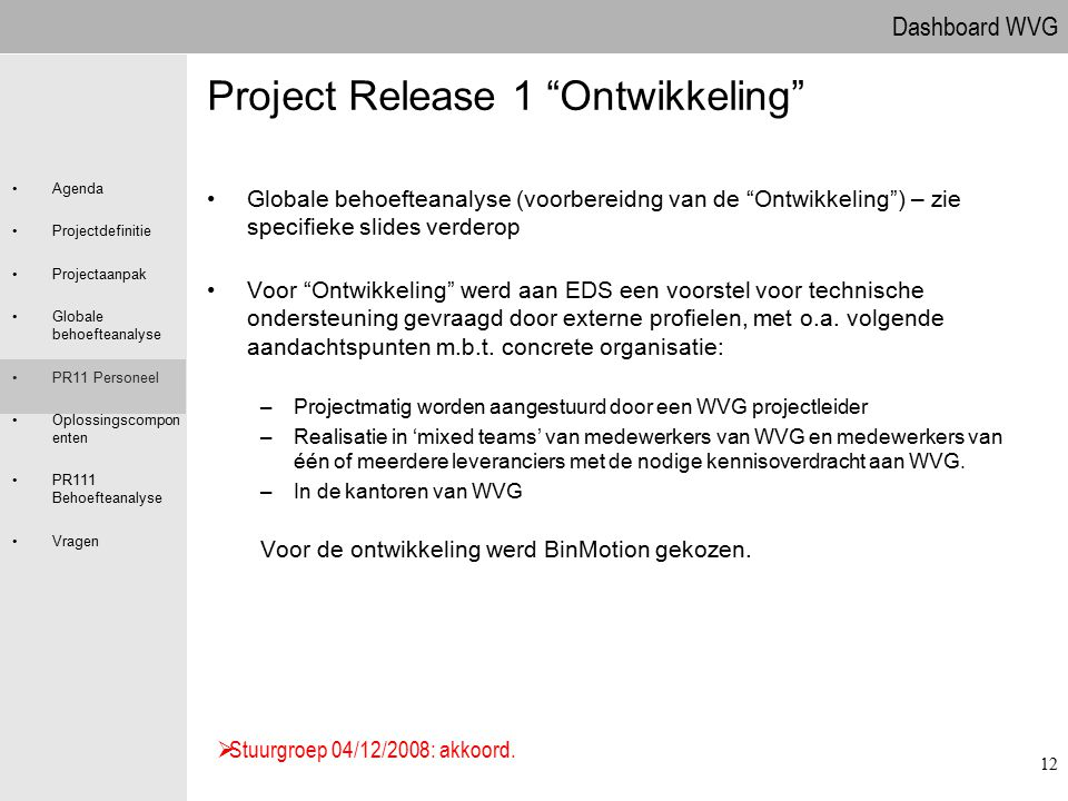 Project Release 1 Ontwikkeling