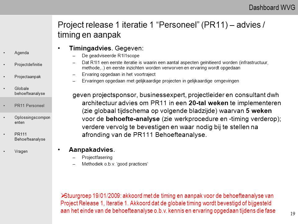 09.04.2017 Project release 1 iteratie 1 Personeel (PR11) – advies / timing en aanpak. Timingadvies. Gegeven: