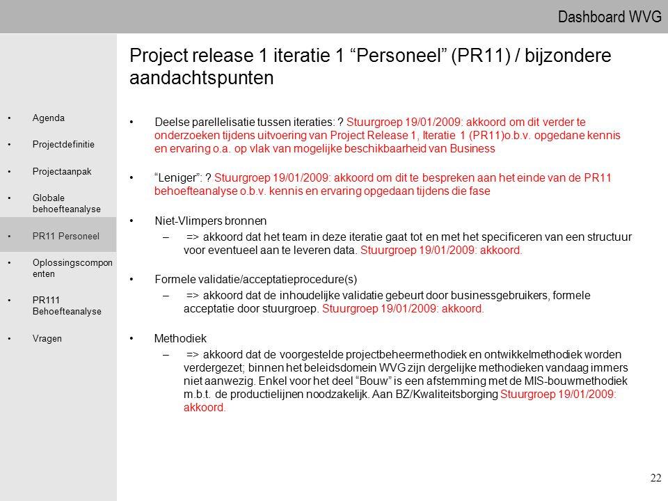 09.04.2017 Project release 1 iteratie 1 Personeel (PR11) / bijzondere aandachtspunten.