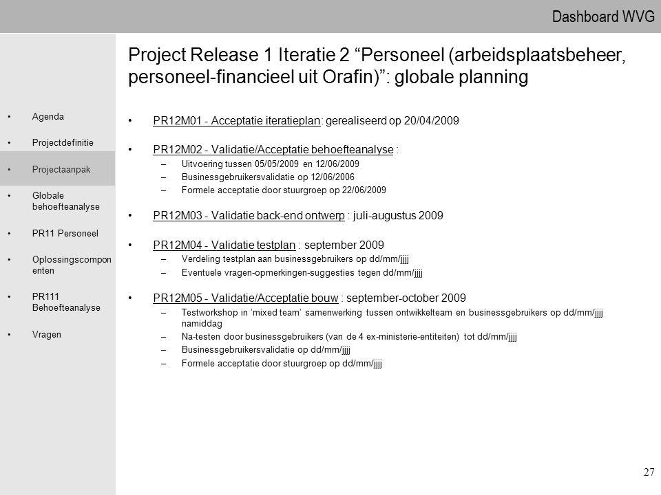 09.04.2017 Project Release 1 Iteratie 2 Personeel (arbeidsplaatsbeheer, personeel-financieel uit Orafin) : globale planning.